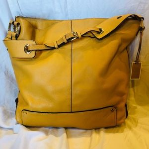 Vince Camuto Mustard/Tan Leather Purse